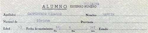Ficha de alumno - Carpinteros en valladolid ...